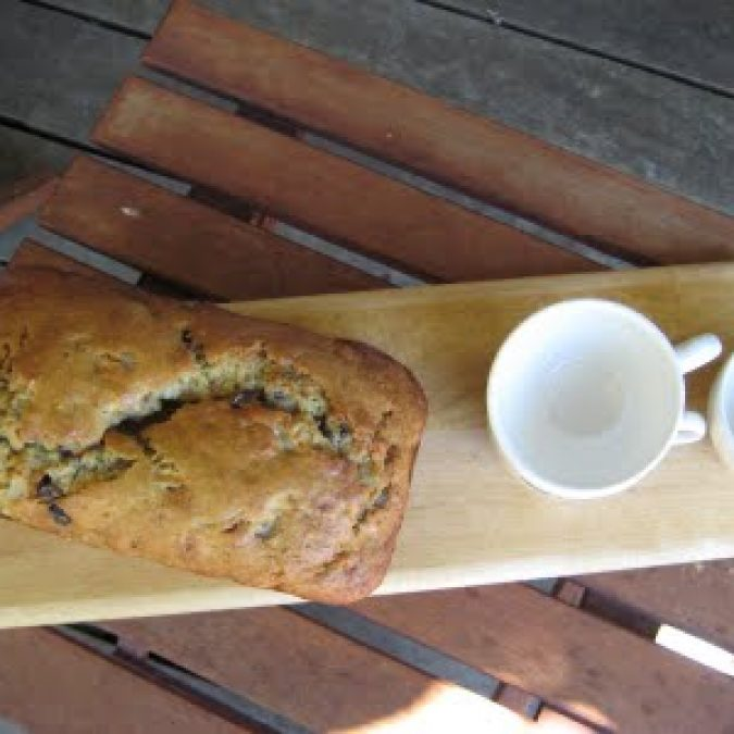 Banana Bread with Chocolate Chips and Candied Ginger
