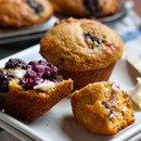 Blackberry Corn Meal Muffins for Breakfast