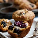 Blackberry Cornmeal Muffins with Butter