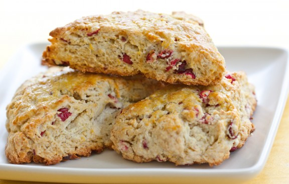 Fresh Cranberry & Orange Scones