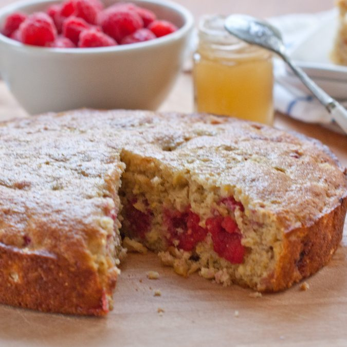 Cornmeal Cake with Fresh Corn and Berries