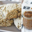 date oat scones and pumpkin butter