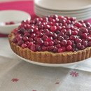 Cranberry Tart with a Hazelnut Crust