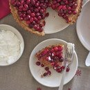 cranberry tart with hazelnut crust
