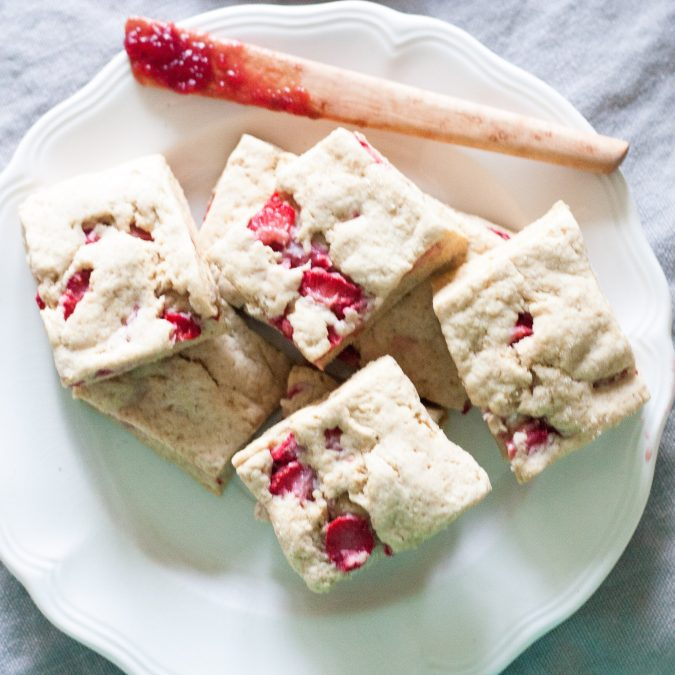 Strawberry and Cream Biscuit Bars