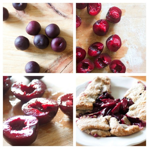 Gingered Plum Galette | A Sweet Spoonful