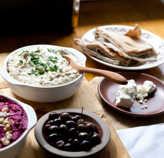Za'atar-Spiced Beet Dip with Goat Cheese and Hazelnuts and Sam's ...