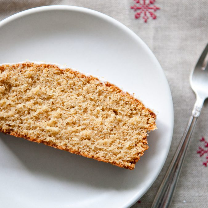 Boozy Whole Grain Eggnog Loaf