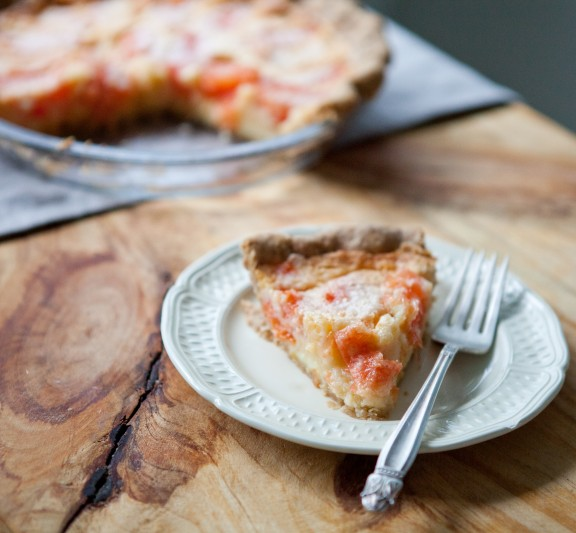 Grapefruit Chess Pie with Sweet Rye Crust | A Sweet Spoonful
