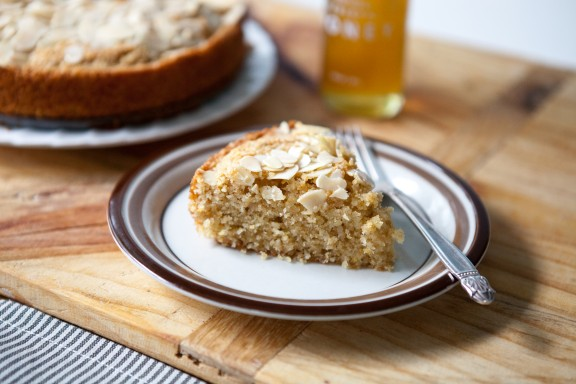 Buttery Honey Almond Cake | A Sweet Spoonful