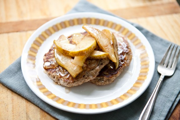 Whole Grain Pancakes with Cinnamony Pears | A Sweet Spoonful