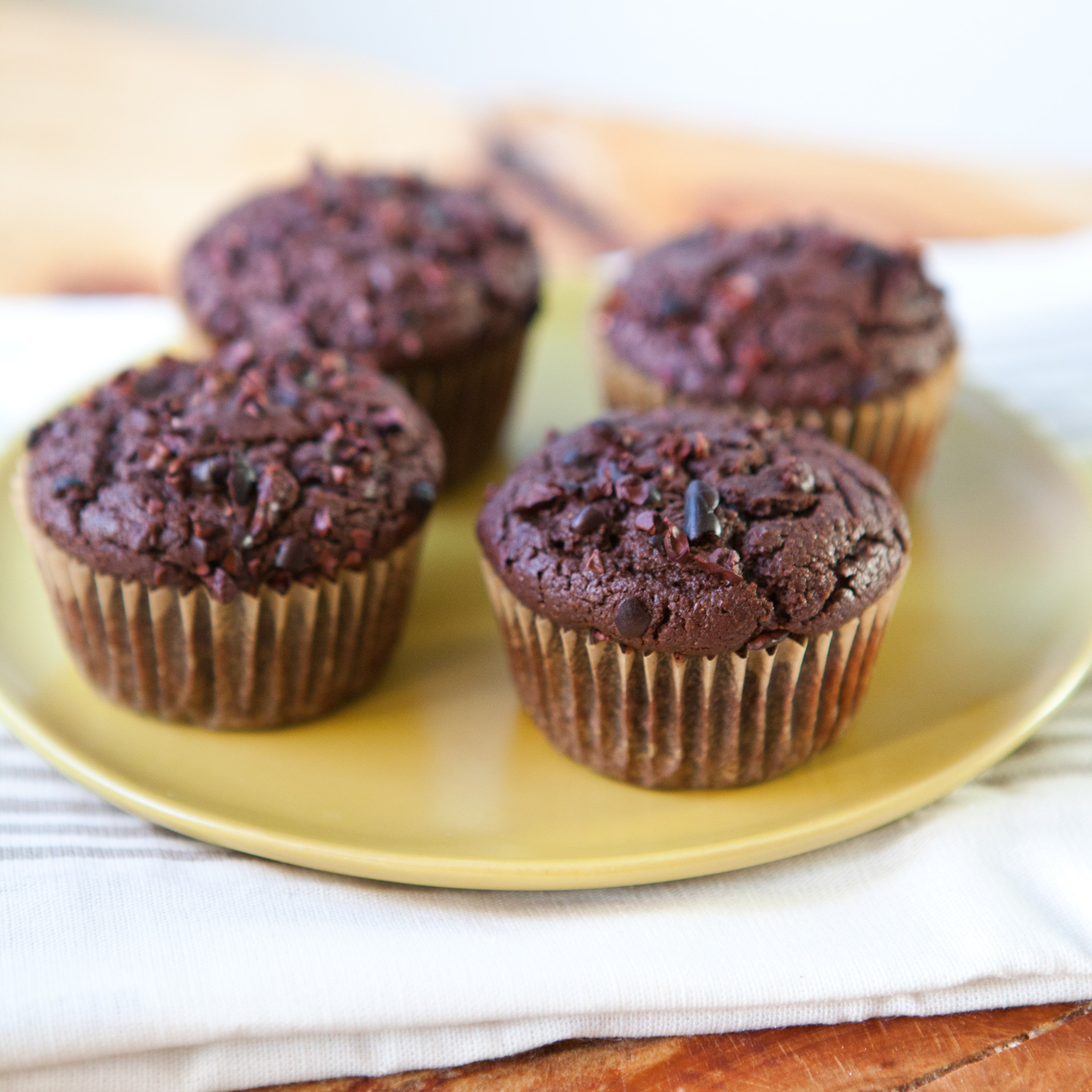 Nibby Chocolate Rye Muffins   A Sweet Spoonful