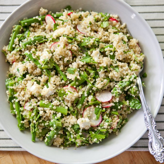 Herbed Spring Vegetable Quinoa Salad