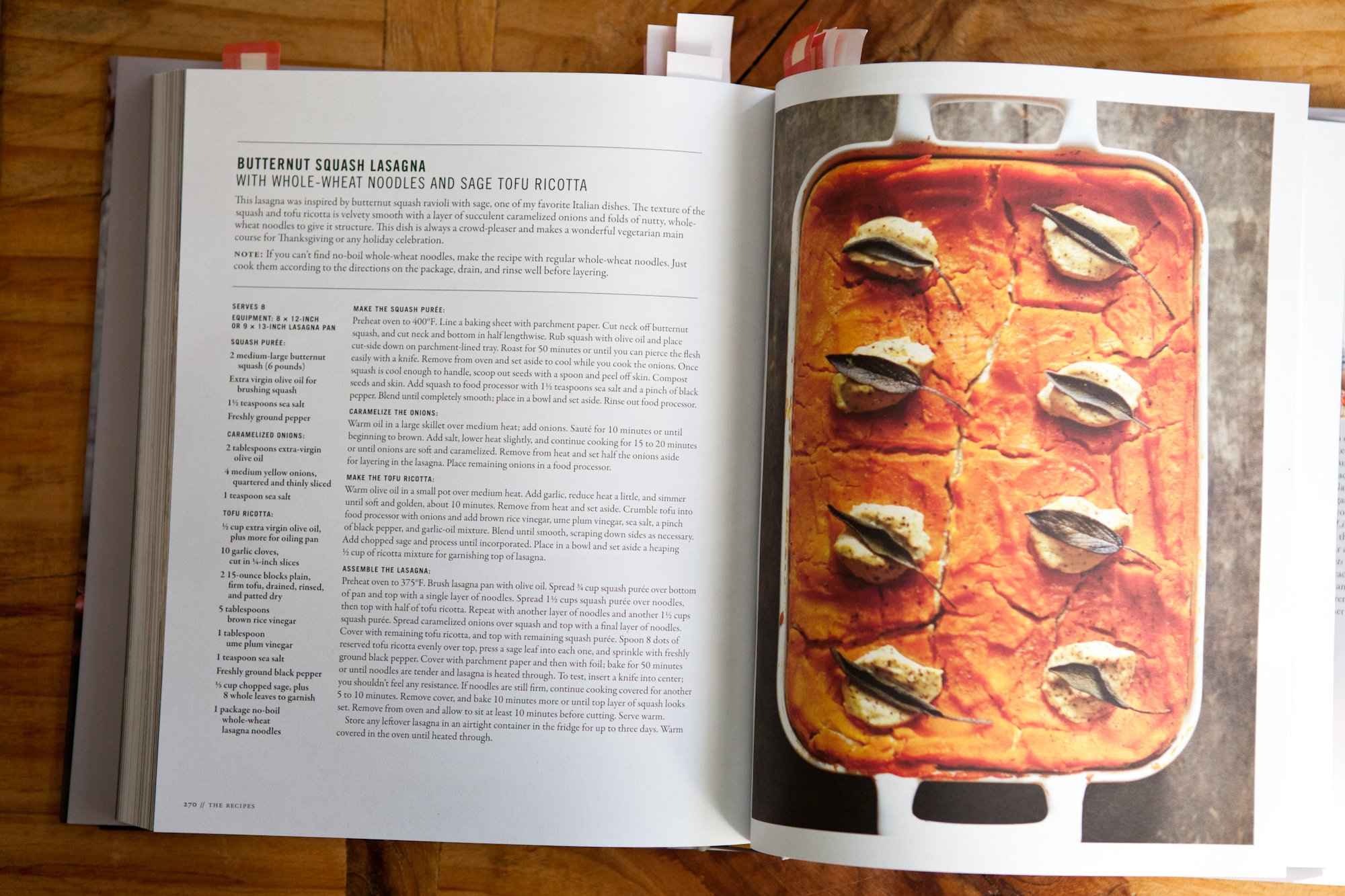 Butternut squash lasagna with sage tofu ricotta at home in the whole foods kitchen featured on asweetspoonful forumfinder Choice Image