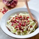 White Salad with Pomegranate and Hazelnuts
