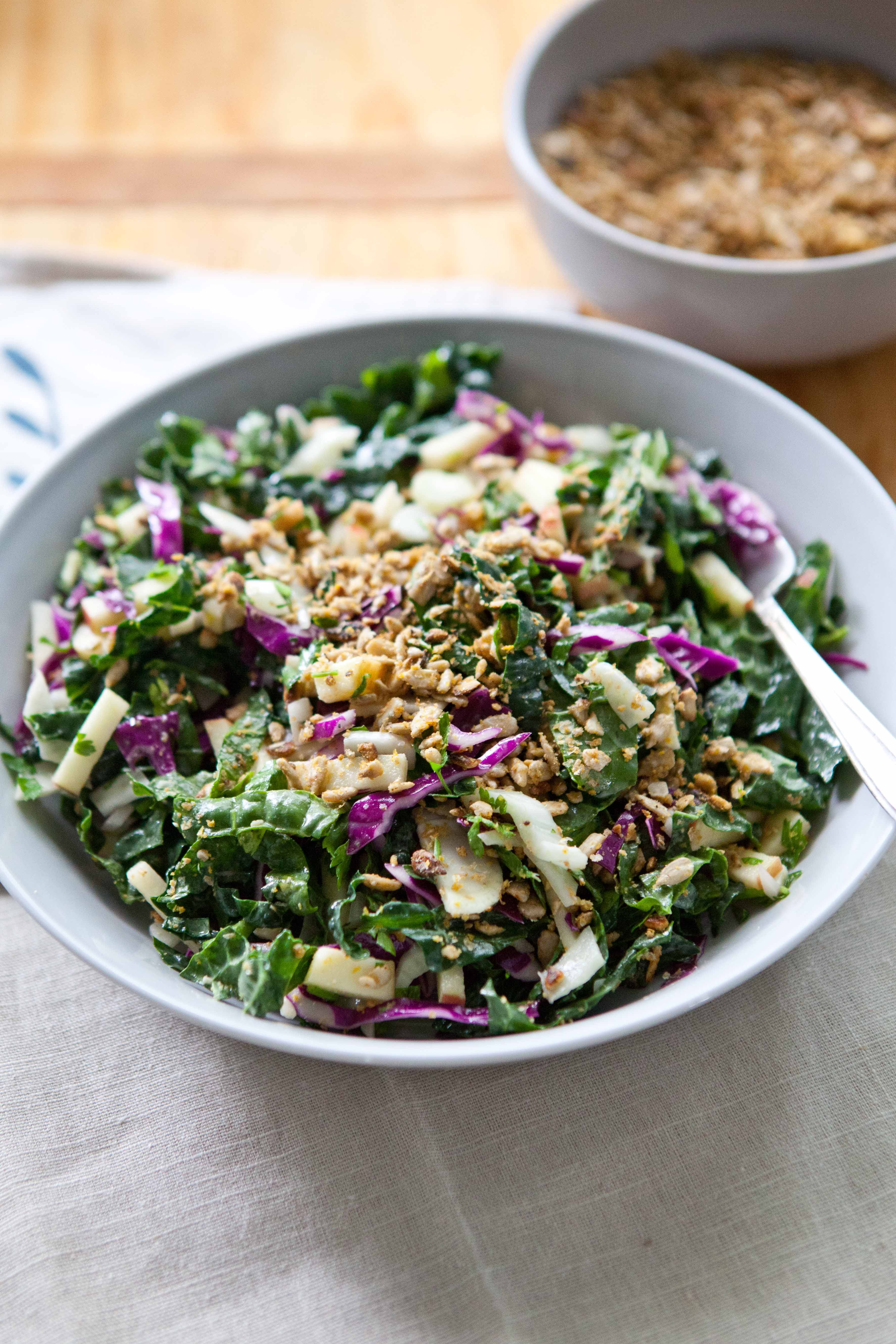 Kale Power Salad with Sunflower Crumble (+ Winter Links) – A Sweet ...