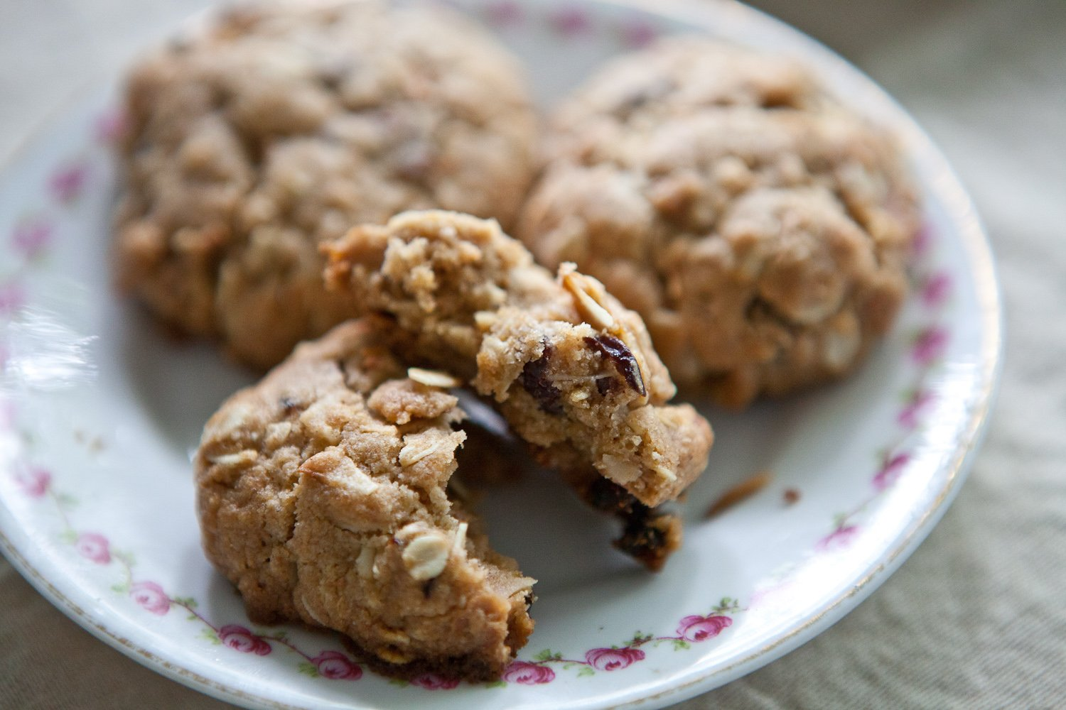 Coconut Oatmeal Cookies with Dried Cherries – A Sweet Spoonful