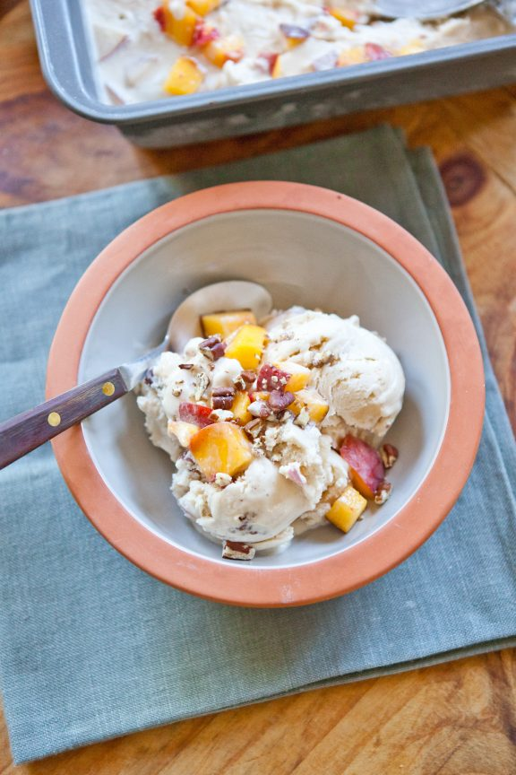 Peach Derby Ice Cream | A Sweet Spoonful
