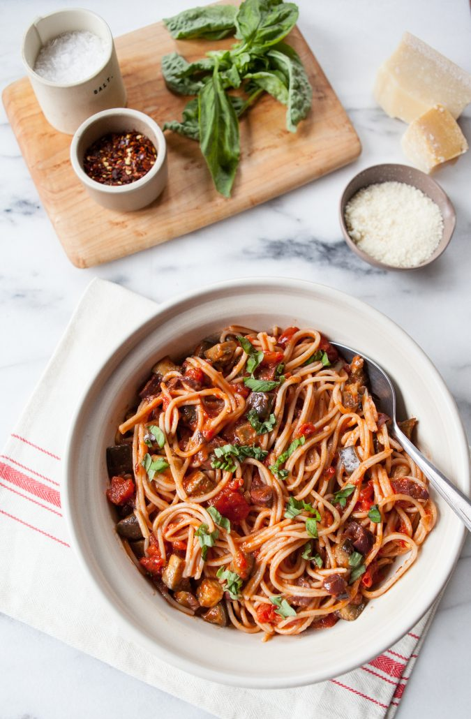 "Eggplant ""Bolognese"" Pasta 