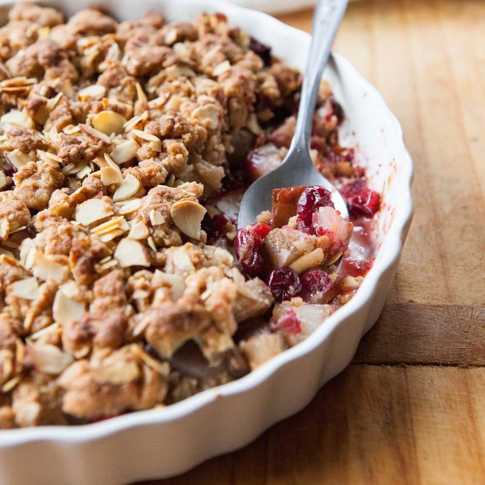 Spiced Pear, Cranberry and Marzipan Crumble.... : A Sweet Spoonful - howlDb