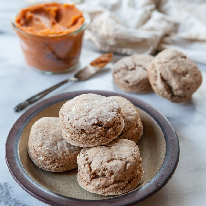 Sweet Potato Skillet Biscuits with Sweet Potato Butter | A Sweet Spoonful