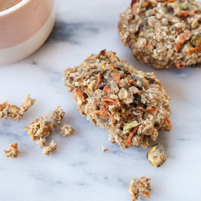 Carrot, Cardamom and Pistachio Breakfast Cookies | A Sweet Spoonful