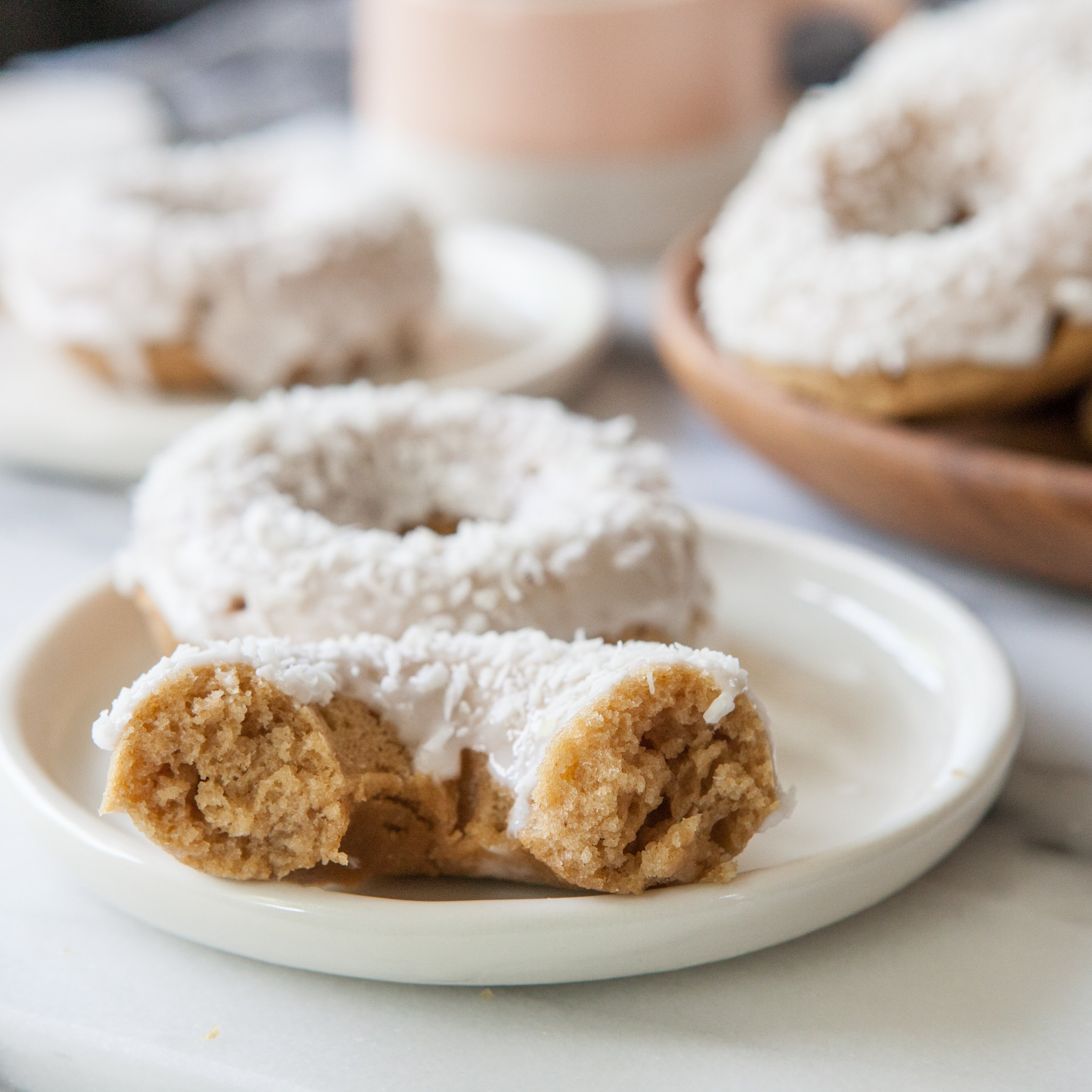 Baked Coconut Donuts | A Sweet Spoonful