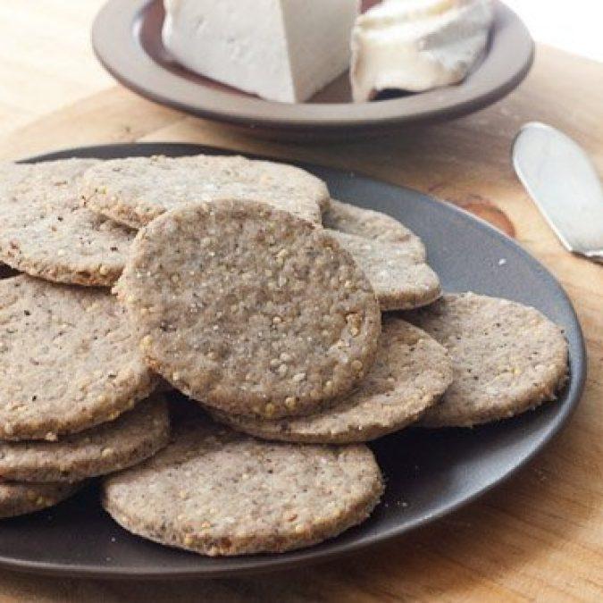 Seedy Wheat Crackers