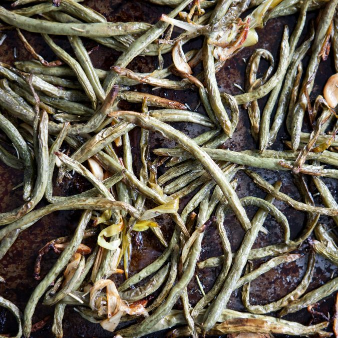 Slow-Roasted Green Beans and Garlic