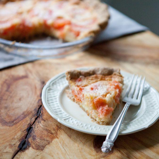 Grapefruit Chess Pie with Sweet Rye Crust