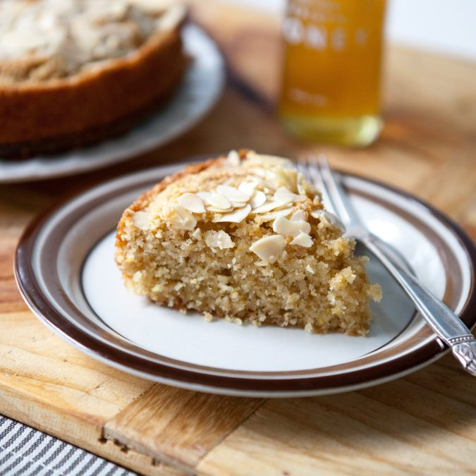Buttery Honey Almond Cake