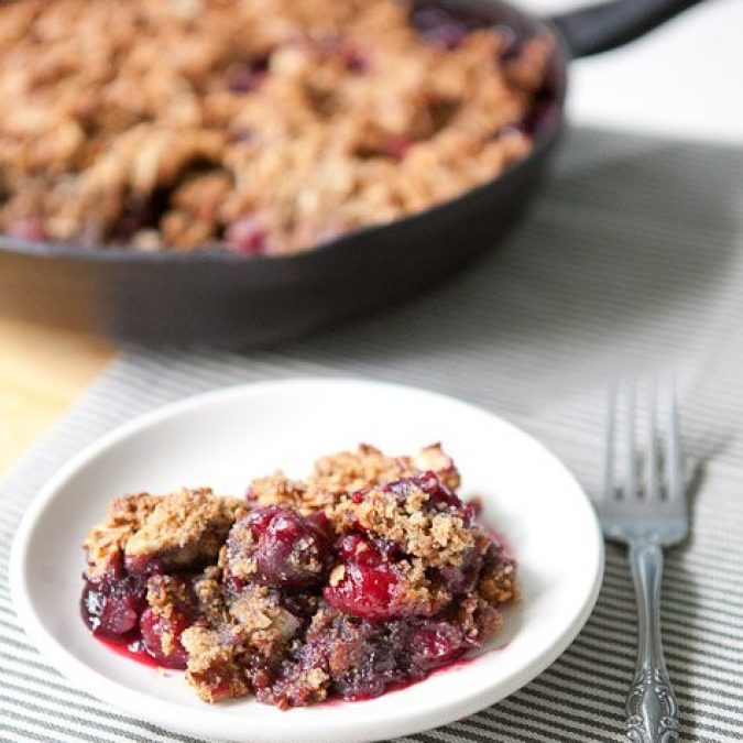 Whole Grain Cherry Almond Crisp