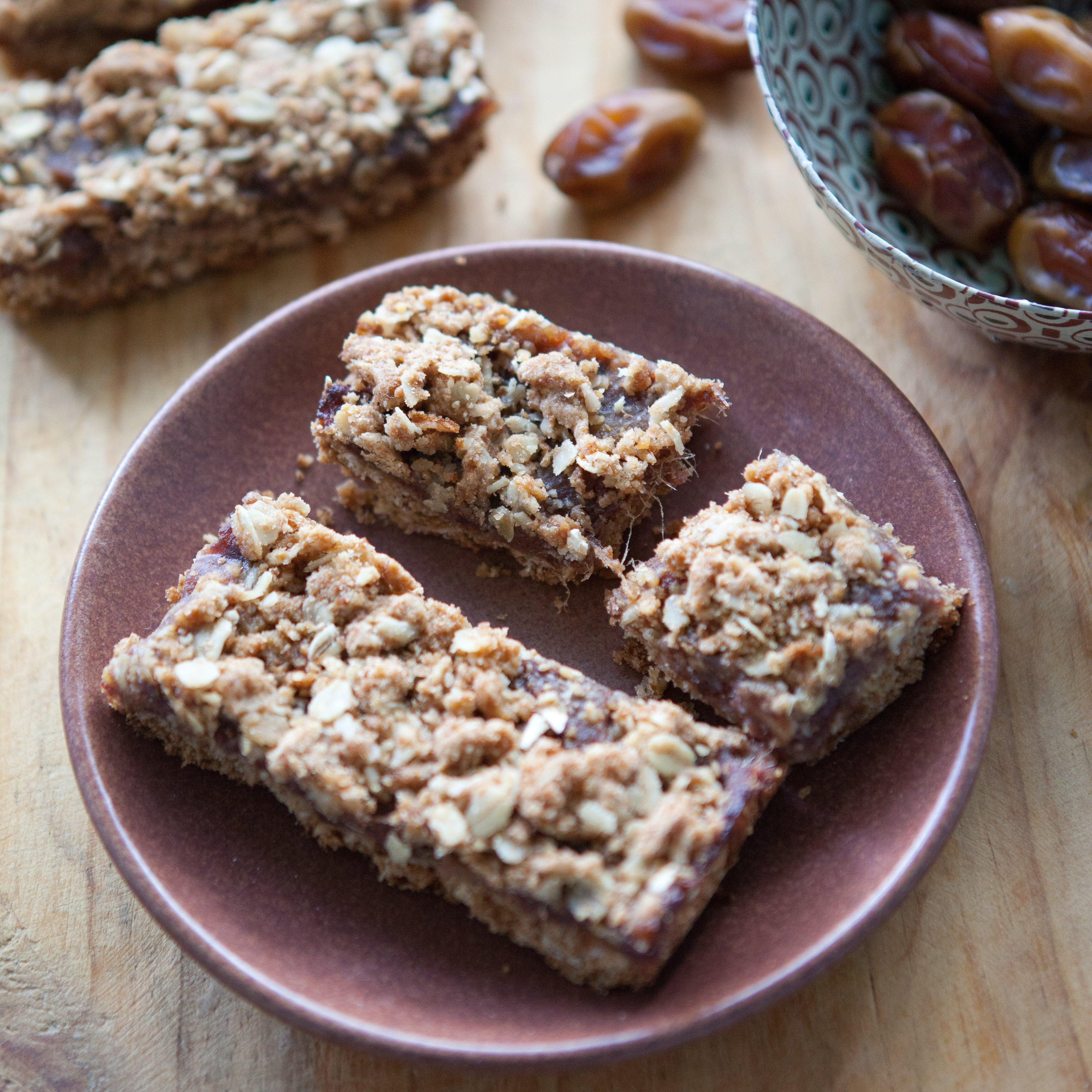 Date Walnut Breakfast Bars