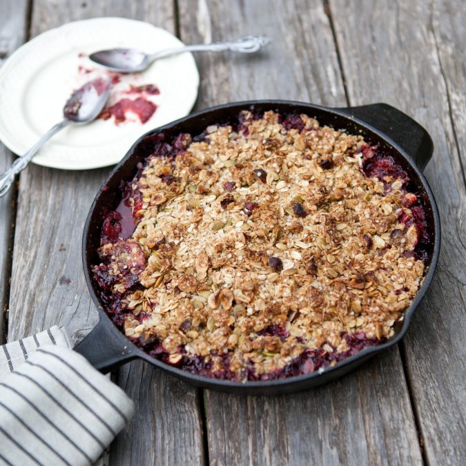 Triple Berry Skillet Crisp
