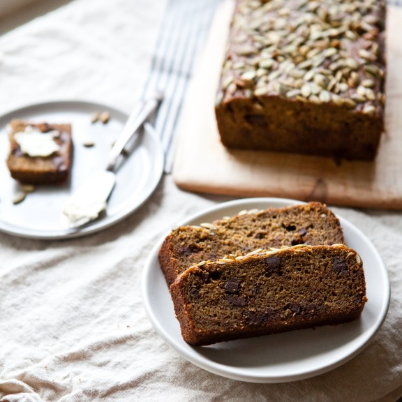 Dark and Spicy Pumpkin Loaf | A Sweet Spoonfu