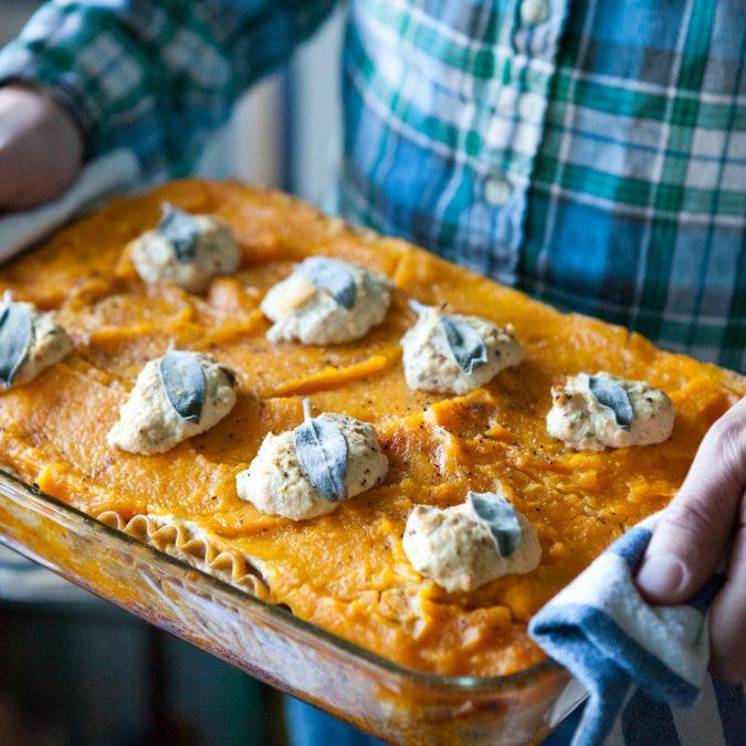 Butternut Squash Lasagna with Sage Tofu Ricotta