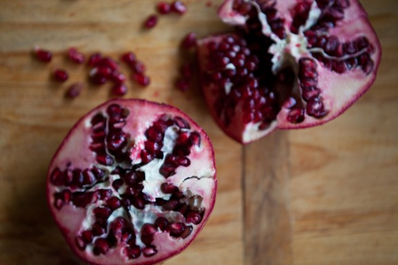White Salad with Pomegranate and Hazelnuts | A Sweet Spoonful