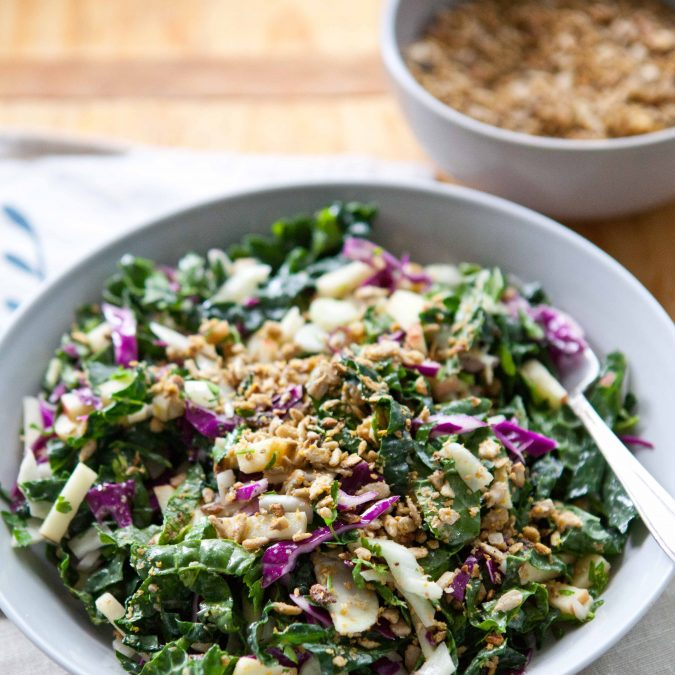 Kale Power Salad with Sunflower Crumble