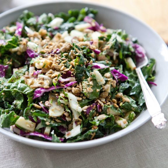 Kale Power Salad with Sunflower Crumble   A Sweet Spoonful