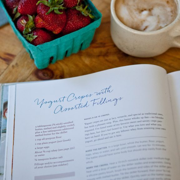 Yogurt Crepes with Strawberries and Yogurt Whipped Cream | A Sweet Spoonful