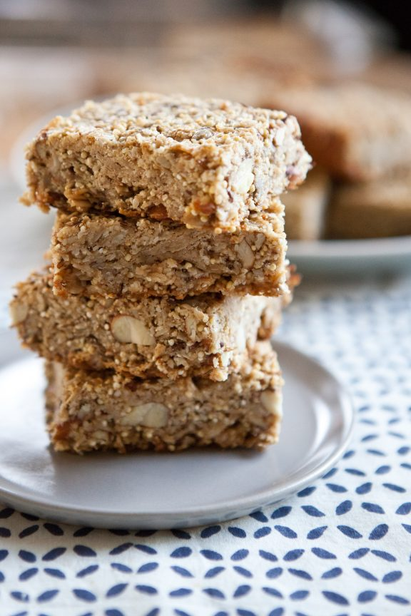 Seedy Sesame Almond Squares | A Sweet Spoonful