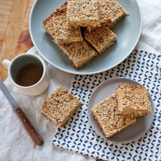 Seedy Sesame Almond Squares