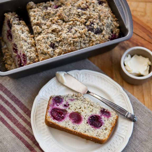 Cherry and Poppy Seed Yogurt Cake | A Sweet Spoonful