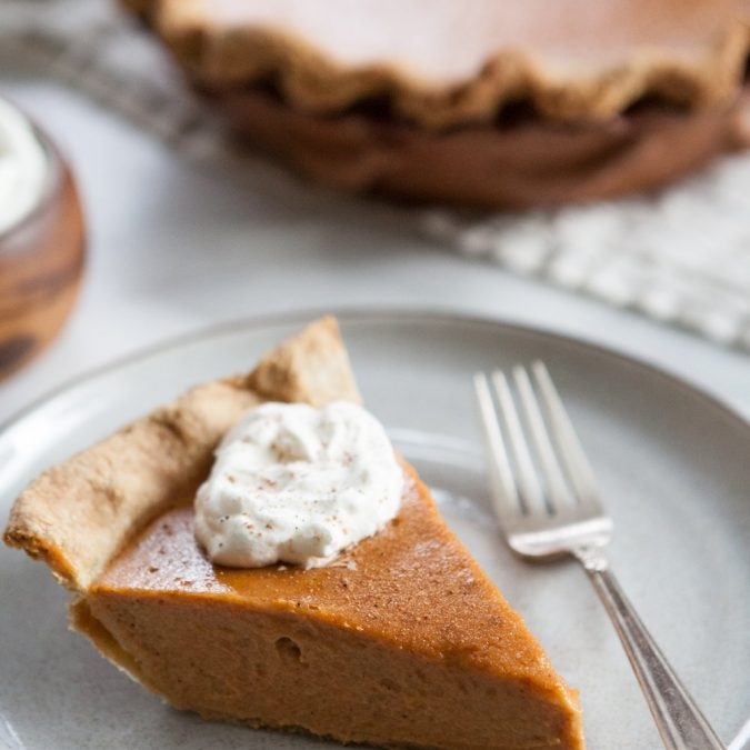 Brown Butter Sweet Potato Pie with Kamut Crust