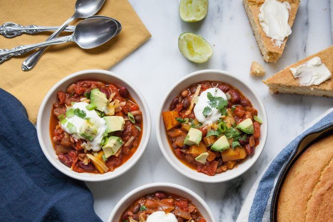Smoky Butternut Squash and Three Bean Chili | A Sweet Spoonful