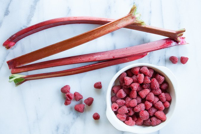 Raspberry Rhubarb Compote | A Sweet Spoonful