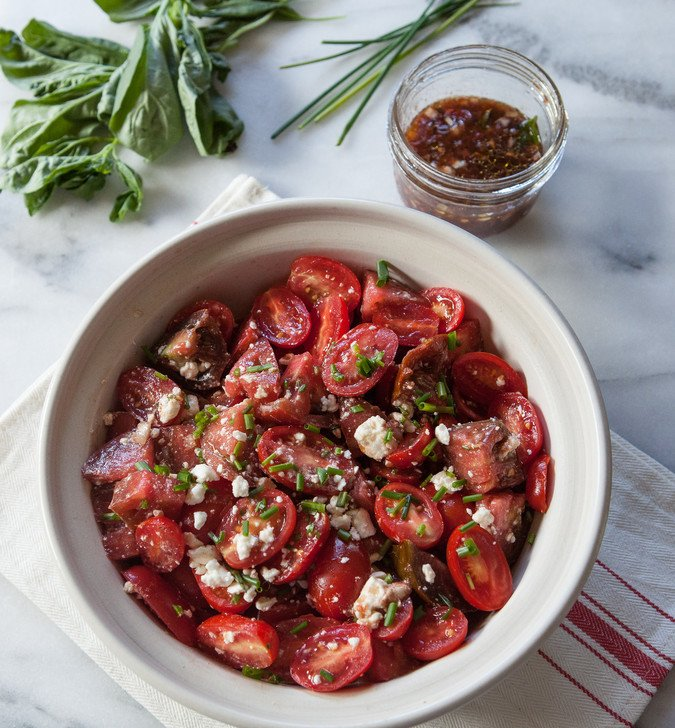 Triple Tomato and Feta Salad | A Sweet Spoonful