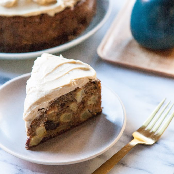 Apple and Olive Oil Cake with Maple Frosting