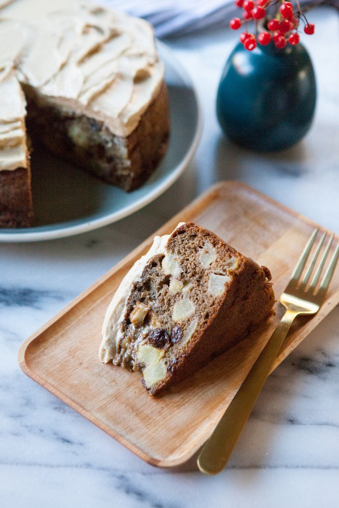 Apple and Olive Oil Cake with Maple Frosting | A Sweet Spoonful