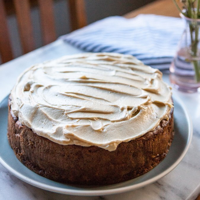 Apple and Olive Oil Cake with Maple Frosting   A Sweet Spoonful